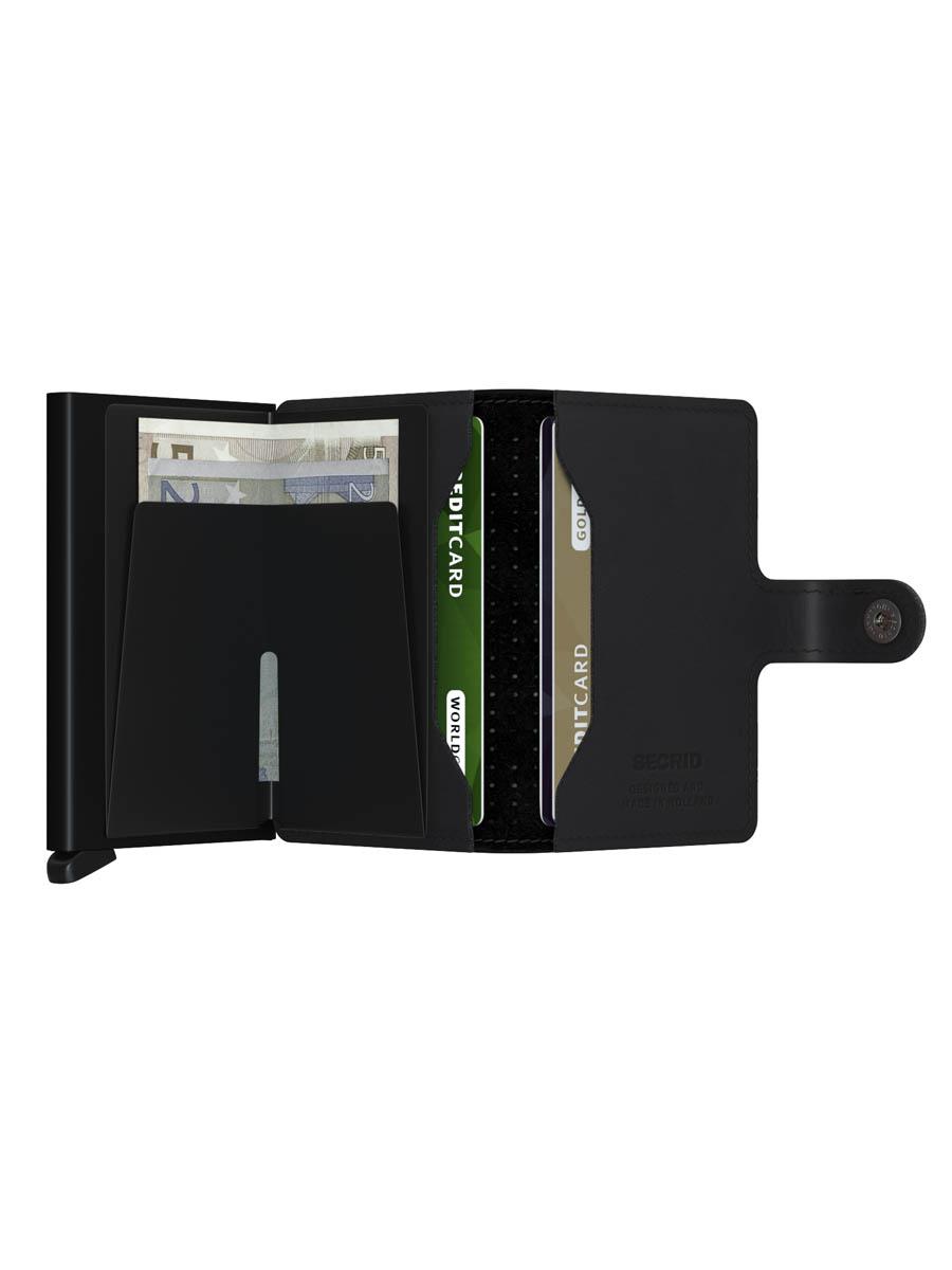 Secrid miniwallet perforated black Binnenkant