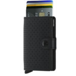 Secrid miniwallet perforated black Front_cards